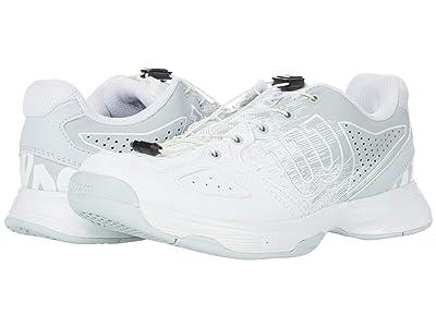 Wilson Kaos Junior Ql (Little Kid/Big Kid) (White/Pearl Blue/Black) Shoes