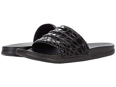 adidas Adilette Comfort Slides (Black/Black/Black) Athletic Shoes