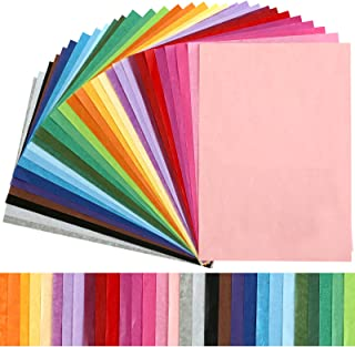 """KESOTE Tissue Paper Bulk for Crafts 11.5"""" x 8"""" Assorted Colored Tissue Paper 300 Sheets 30 Colors Rainbow Tissue Paper for..."""