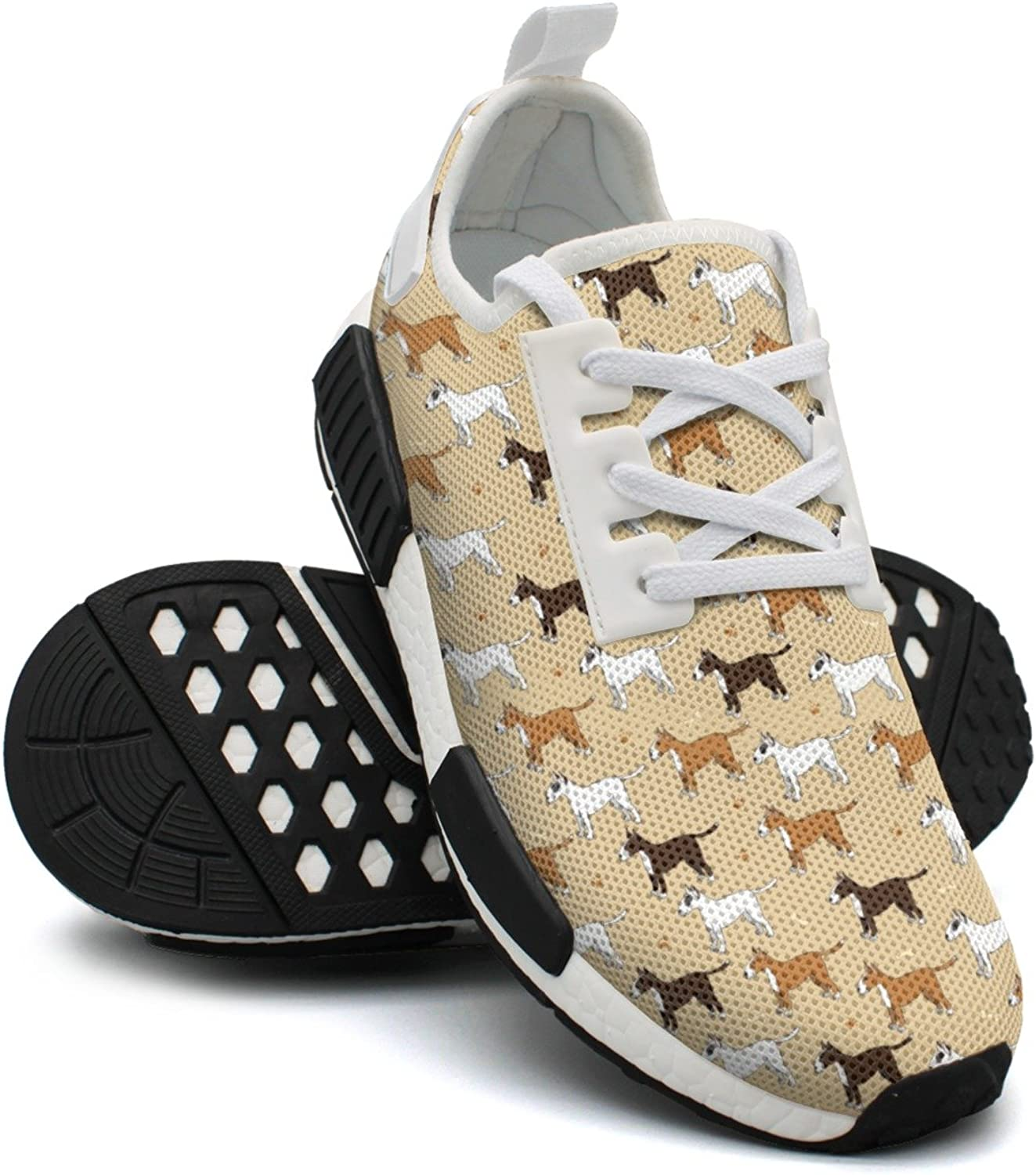 Playing Dog Funny Purebred Puppy Women's Trendy Lightweight Sneakers shoes Gym Outdoor Running shoes