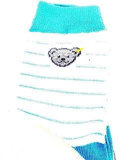 Steiff, Calcetines, Blanco Azul con Verdes Rayas 18102 gr.110-116