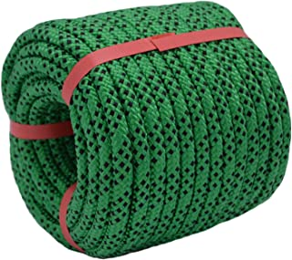 "YUZENET Braided Polyester Arborist Rigging Rope (3/8"" X 100') Strong Pulling Rope for Climbing Sailing Gardening Swings,Gr..."