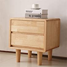 Bedroom Bedside Table Storage Cabinet 2 Storage Drawers Furniture Wooden Night Stand Lamp Desk for Living Room Sofa