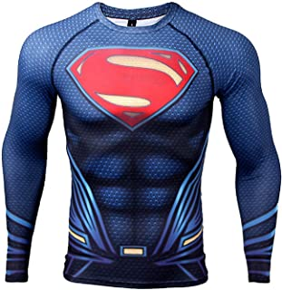 Upgrade Raglan Sleeve Superman 3D Printed T-Shirt Men Compression Shirt