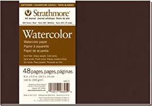 "Pro-Art Strathmore Softcover Watercolor Journal 8 x 5.5-inch, 24 Sheets, White, 8""x5.5"""