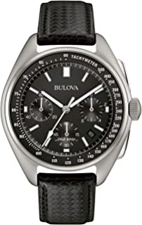 Bulova Mens 45mm Special Edition Lunar Pilot Chronograph Watch