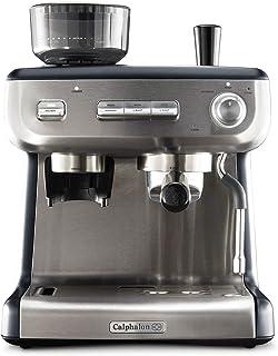 Ichiias Cafetera de caf/é espresso el/éctrica de acero inoxidable 300ml
