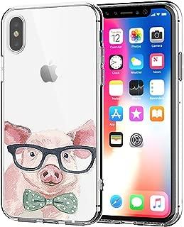 AIsoar Case iPhone Xs Max TPU Soft Flower Printed Cute Silicone Shock-Absorption Non-Slip Sweatproof Gel Bumper Clear Cute Cartoon Patterns Protective Ultra Slim Case for iPhone Xs Max 6.5'' (Piggy)
