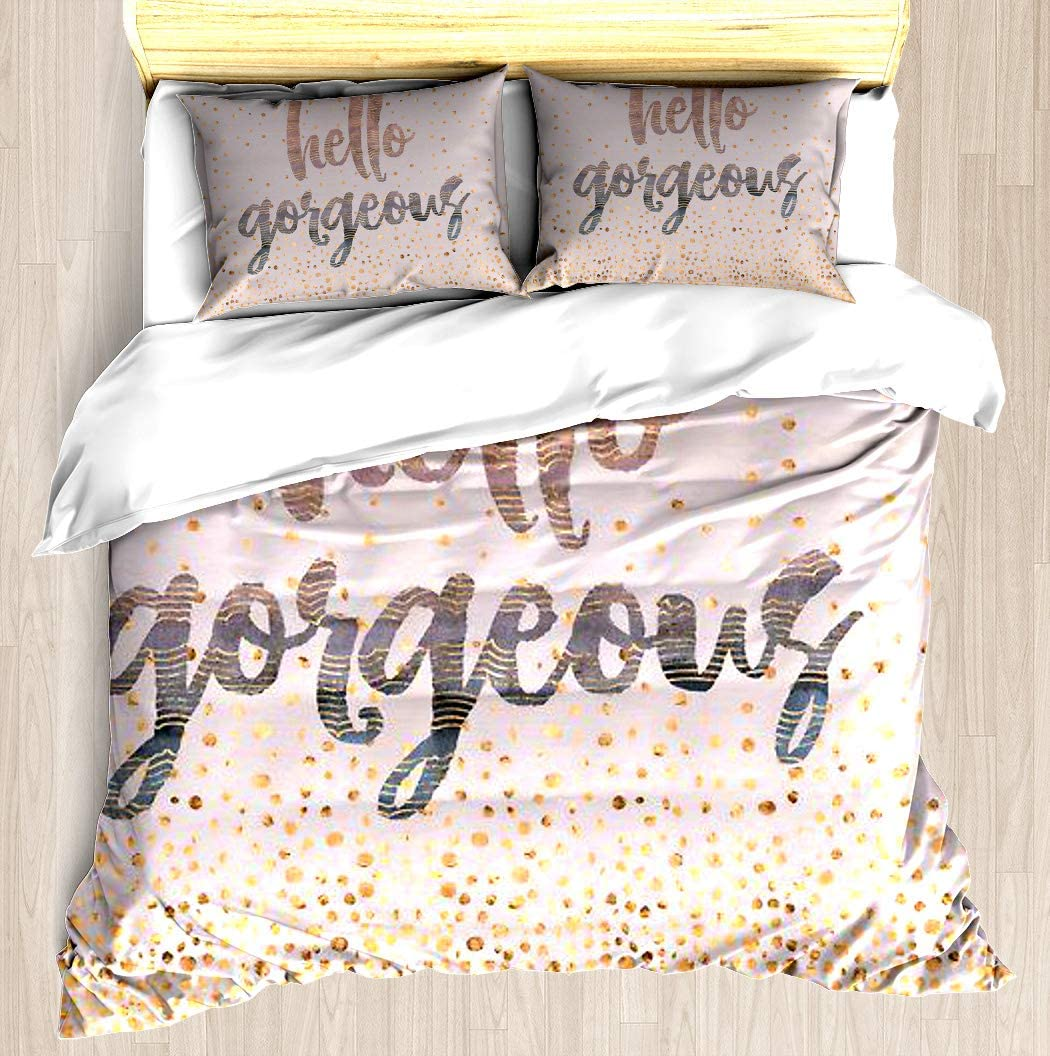 New arrival SNRBED Hello Gorgeous Lilac Periwinkle Super Special SALE held Duvet Gold Confetti Rose