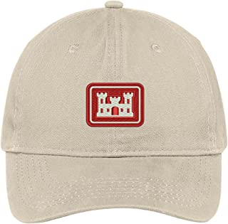 Trendy Apparel Shop US Corps of Engineers Embroidered Low Profile Soft Cotton Brushed Baseball Cap