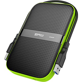 Silicon Power Black 1TB Rugged Portable External Hard Drive Armor A60, Shockproof USB 3.0 for PC, Mac, Xbox and PS4, Black