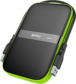 Silicon Power 1 TB External Portable Hard Drive Rugged Armor A60 Shockproof Water-Resistant 2.5 Inch USB 3.0 Military Grade Mil-Std-810G & IPX4 Black (FBE-SU010TBPHDA60S3KFE)