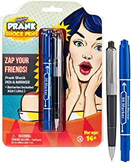 Shock Pen and Marker Prank Set 2-in-1 Funny Pens Gag Gift - Fool Friends and Make Family Laugh with Electric Shocking Prac...