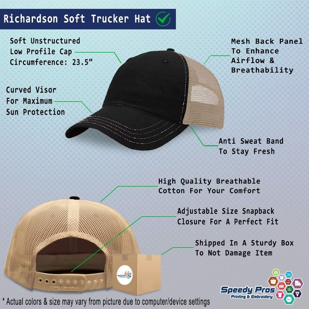 Richardson Trucker Mesh Hat Pow Mia B Embroidery Dad for Men /& Women Snapback