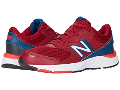 New Balance Kids 680v6 (Little Kid/Big Kid) (Neo Crimson/Rogue Wave) Boys Shoes