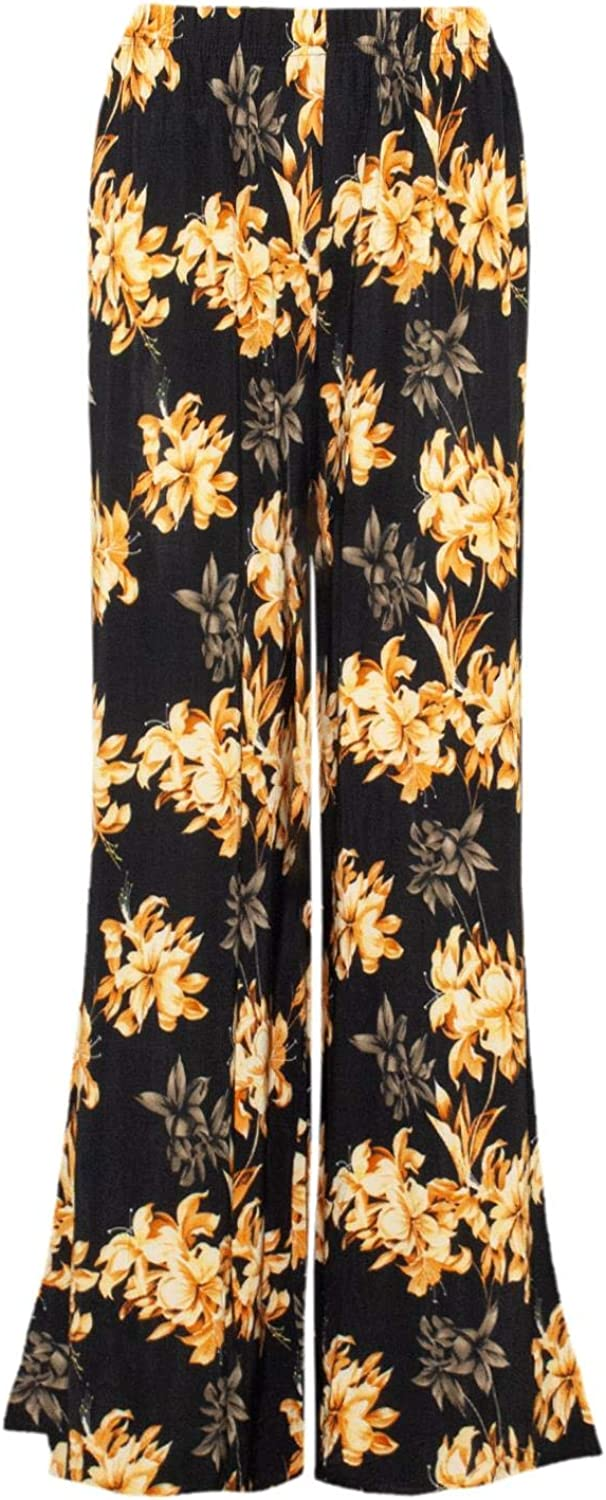 Be Jealous Womens Palazzo Flared Legged Baggy Wide Trousers