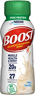 BOOST High Protein Balanced Nutritional Drink, Very Vanilla, 8 Ounce Bottle (Pack of 24)
