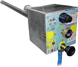 Pieffe Brûleur professionnel à gaz méthane ou GPL pour four à bois à allumage électronique