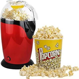 Leogreen - Appareil à Popcorn Eléctrique, Eclateur de Maïs, Rouge, Dimensions: 30,5 x 17 x 16,3 cm, Capacité de la tasse: ...
