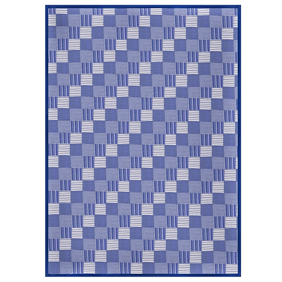 Hand Quilted Cotton Patchwork Queen Quilt Tumbling Blues from Patch Magic