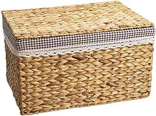 Boîte de rangement Xuan - Worth Having Panier de Rangement en Paille for Panier de Rangement en Paille avec Couvercle Pani...