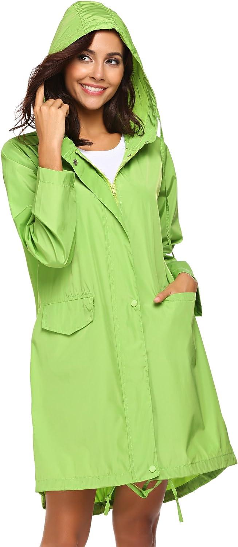 SoTeer Rain Coat Women Long Lightweight 100% quality warranty Water Jacket Hooded Award