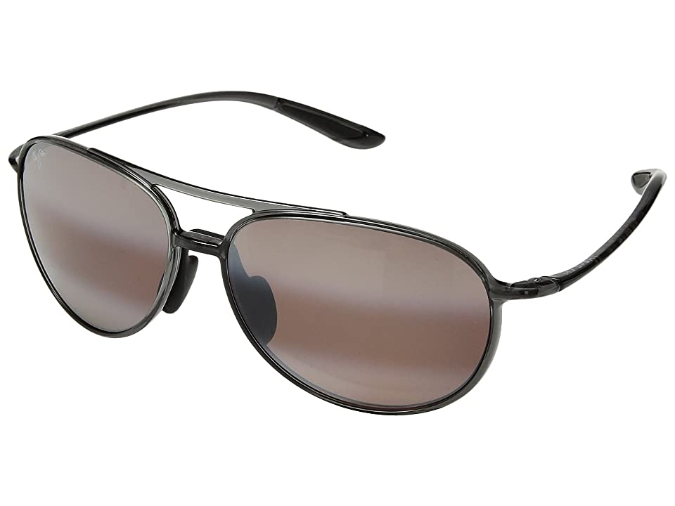 Maui Jim Alelele Bridge (Translucent Smoke Grey) Athletic Performance Sport Sunglasses