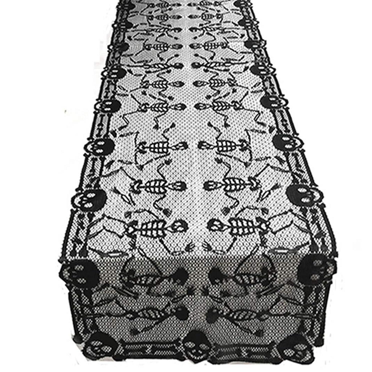 文房具トイレエリートAirlove ハロウィンテーブルクロスブラックダンススカルテーブルランナー長方形テーブルカバーハロウィンパーティーホラードレス
