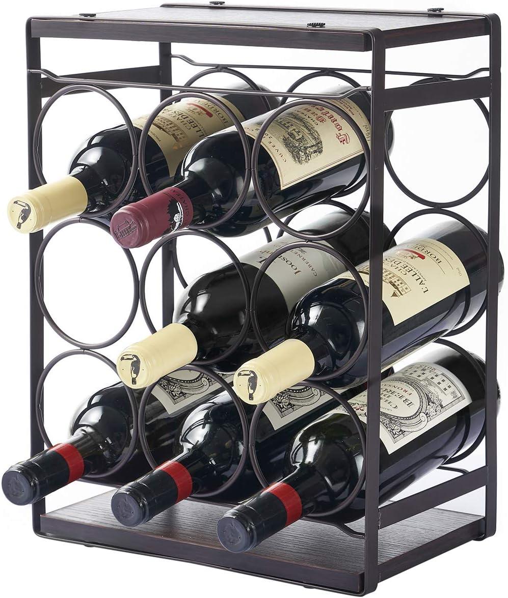 MEIQIHOME Wood Countertop Wine Rack Bottles Bot 9 Ranking TOP12 Tabletop Regular dealer