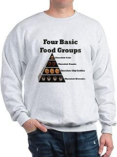 CafePress Four Basic Food Groups Sweatshirt Sweatshirt
