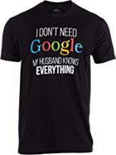I Don't Need Google, My Husband Knows Everything! | Funny Gay Marriage Wedding Groom T-Shirt