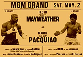 Poly Posters #66 2' x 3' Pop Art Abstract Print Boxing Floyd Money Mayweather VS Manny Pac-Man Pacquiao ALI Banner Fight Night Championship