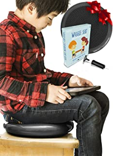 Wiggle Seats for Sensory Kids - LAKIKID Flexible Seating Classroom Furniture Series - Improves Attention and Focus - Inflatable Wobble Cushion, Great Alternative Seating for Students, Pump Included