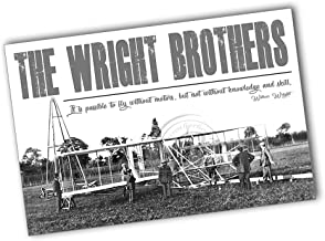 The Wright Brothers It's Possible to Fly Without Motors, Not Without Knowledge Poster 2 Sizes Availablle (11x17)
