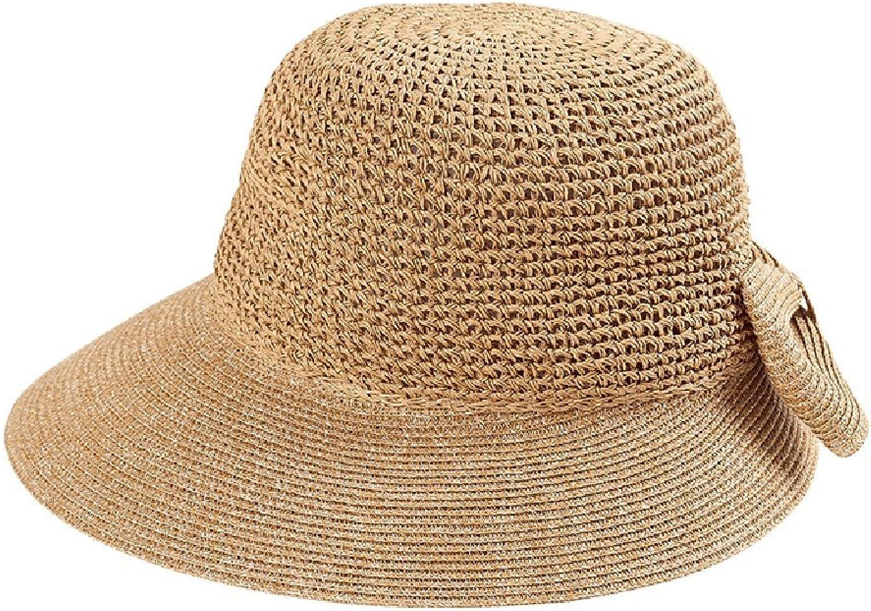 Chunlan Sun Hat Hat Female Summer Shade Beach Hat Vacation Folding Sunscreen Straw Hat