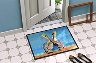 """Caroline's Treasures 8539-MAT Pelican Indoor or Outdoor Doormat, 18"""" x 27"""", Multicolor"""
