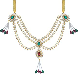 Memoir Gold Plated, CZ, Kundan and Colourful Crystals Traditional Side Kamarbandh Women Ethnic Jewellery