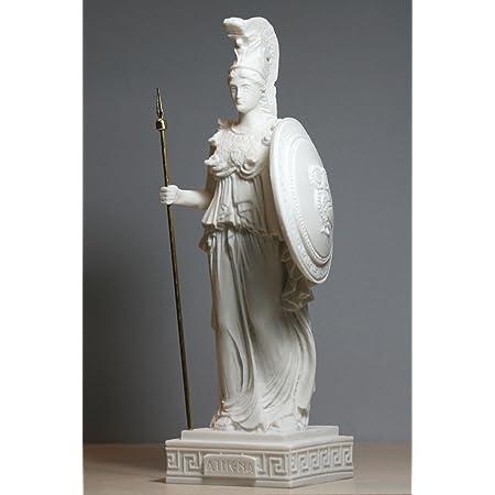 Maiden Greek Mythology Goddess Sculpture Alabaster Handmade Statue 24cm