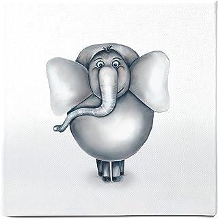 Dori´s tryck barnrum bilder med safari djurmotiv – toalettdeko/kanvasbild för bebisrum tryckt på 100 % biologisk bomull el...