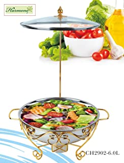 HARMONY GOLD DECAL STAINLESS STEEL CHAFING DISH WITH HOOK6.0L