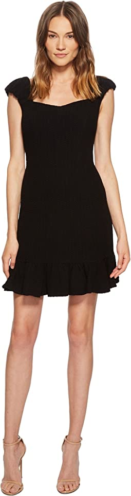 Rebecca Taylor - Short Sleeve Stretch Texture Dress