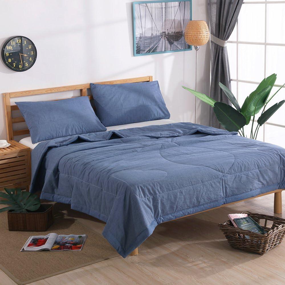NTCOCO 3 Piece Comforter Set Thin Co SummerLightweight Elegant 5 popular Quilt