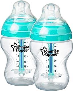 Tommee Tippee Advanced Anti Colic Feeding Bottle, Clear, (2 X 260mL)