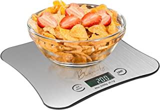 Bhomely Digital Kitchen Scale Multi Food Weighing Scale with Digital LCD Display Stainless Steel Food Scale Easy to clean ...