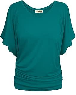 Womens Super Comfy Boat Neck Dolman Top Shirt