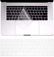 TERSELY Silicone Keyboard Cover Case Skin Protector for MacBook Pro with Touch Bar 2018 2017 2016 Release 13 Inch A1706 A1989 or 15 Inch A1707 A1990 TouchBar Protective Skin, Transparent Clear