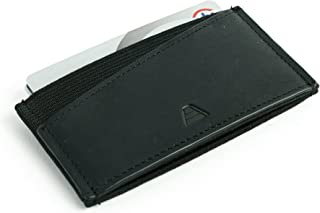 Minimalist Ultra Slim Premium Leather Elastic Front Pocket Wallet - The Finn
