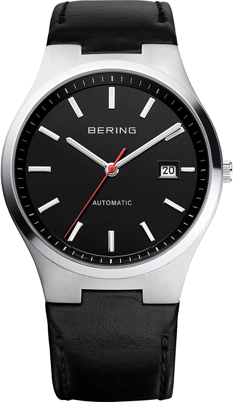 BERING Reloj Analógico Automatic Collection para Hombre de Automático con Correa en Cuero y Cristal de Zafiro 13641-404