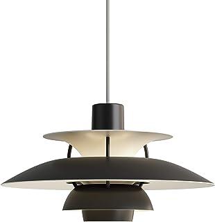 PH 5 Mini, Louis Poulsen, Lámpara de Suspensión Diseñada por Poul Henningsen (Negro Monocromático)