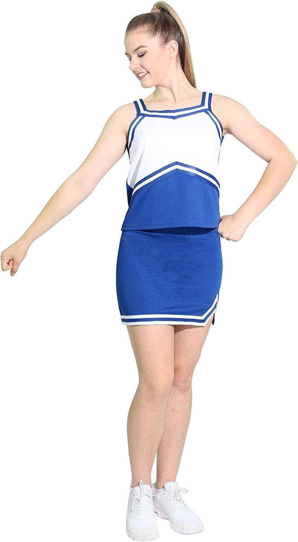 Danzcue Womens Sweetheart Cheerleaders Uniform Shell Top